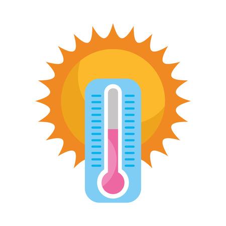温度計ベクトル イラスト デザインでかわいい太陽