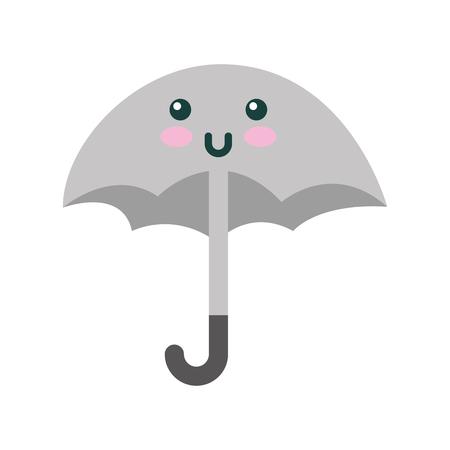 cute umbrella character vector illustration design