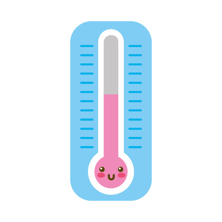 termometer measure character vector illustration design Illustration