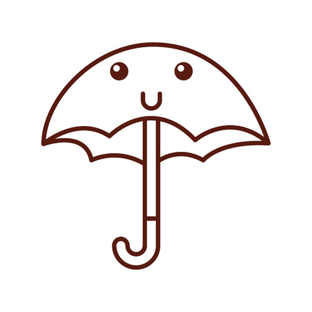 cute umbrella character vector illustration design Stok Fotoğraf - 83634317