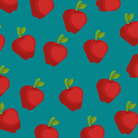 アップル農場背景ベクトル イラスト グラフィック デザイン