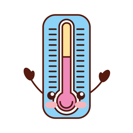 thermometer measure character vector illustration design