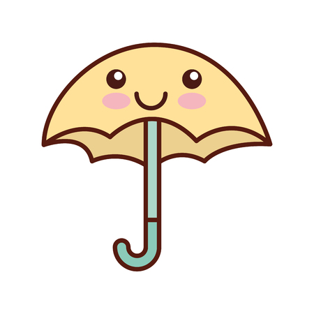 cute umbrella  character vector illustration design Imagens - 83636021
