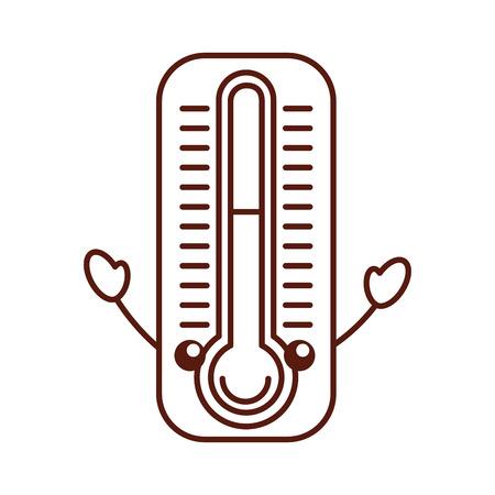 thermometer meet karakter vector illustratie ontwerp