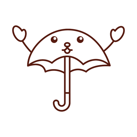 cute umbrella  character vector illustration design Illusztráció