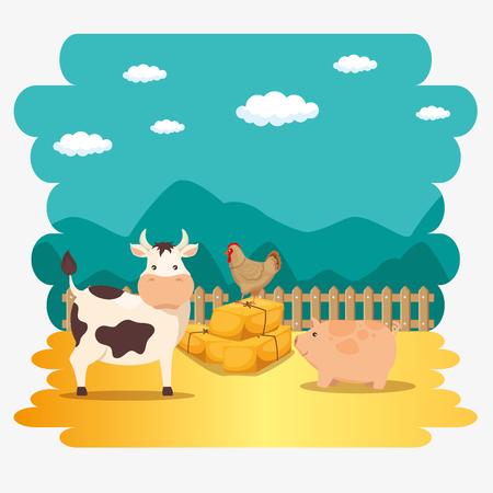 Animales de granja icono ilustración vectorial diseño gráfico Foto de archivo - 83636244