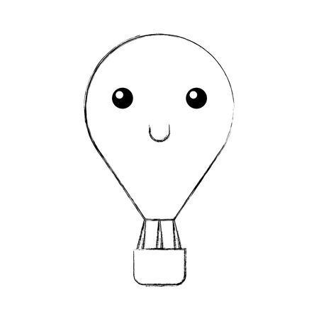 balloon air hot  character vector illustration design Illustration