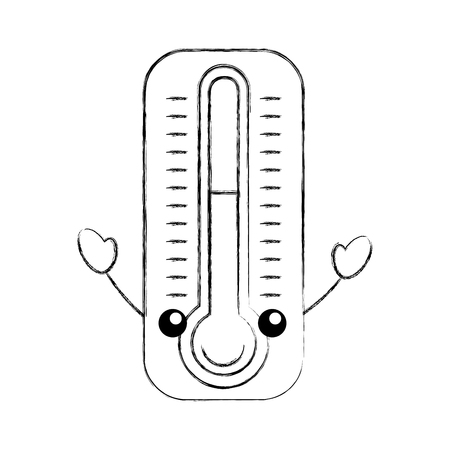 thermometer maatregel karakter vector illustratie ontwerp