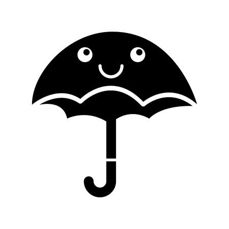 cute umbrella  character vector illustration design Иллюстрация