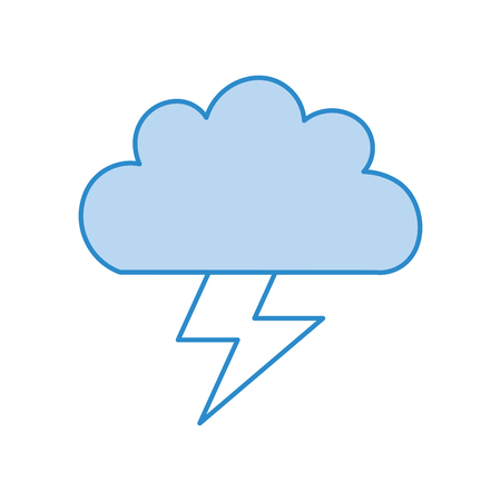 Beautiful fantasy cloud with ray storm electric vector illustration design