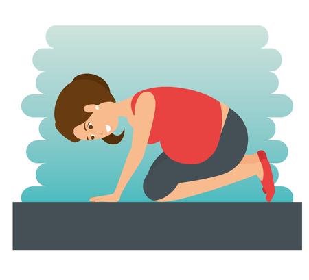 yoga training for healthy pregnancy vector illustration graphic design