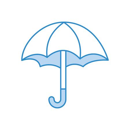 cute umbrella isolated icon vector illustration design