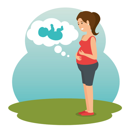 pregnancy newborn baby icon vector illustration graphic design