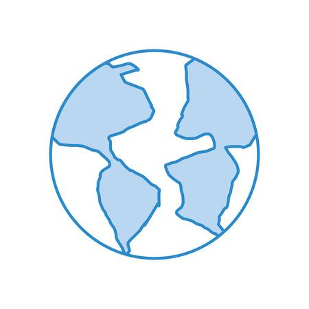 world planet earth icon vector illustration design