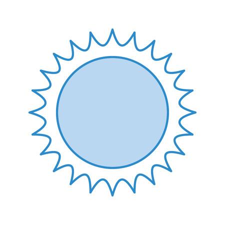 かわいい太陽のアイコン ベクトル イラスト デザインを分離しました。  イラスト・ベクター素材