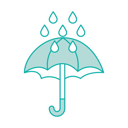 cute umbrella with rain drops vector illustration design Stok Fotoğraf - 83631194