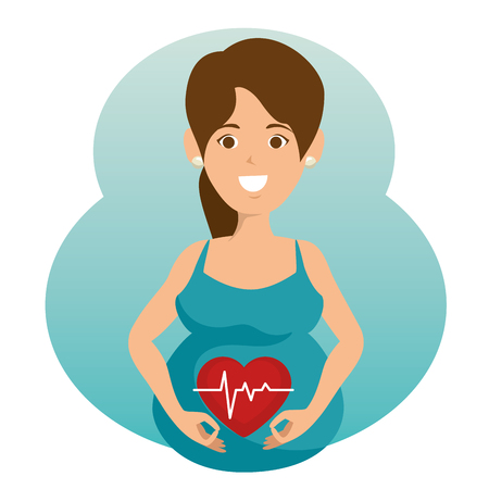 pregnancy newborn baby icon vector illustration graphic design