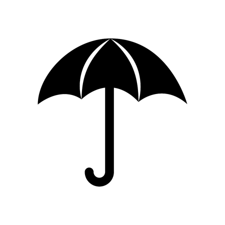 cute umbrella isolated icon vector illustration design