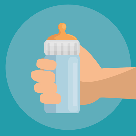 baby bottle icon vector illustration graphic design