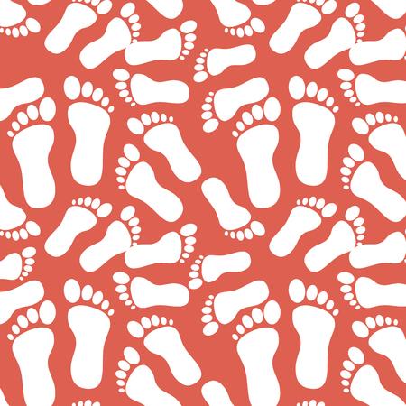Bebé pies fondo ilustración vectorial diseño gráfico Foto de archivo - 83631964