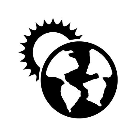 world planet earth with sun vector illustration design Stock Vector - 83631973