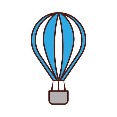 Diseño de globo aire caliente icono vector ilustración Foto de archivo - 83632235