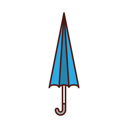 cute umbrella close isolated icon vector illustration design