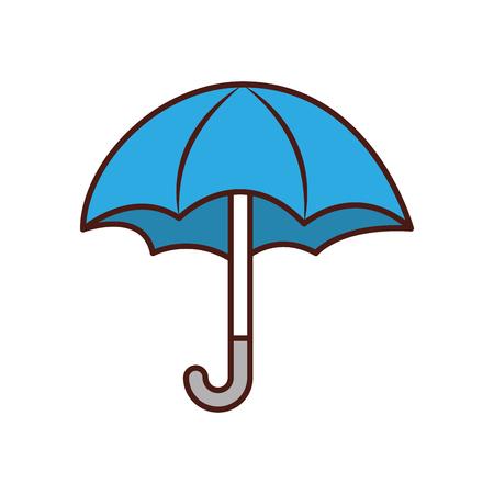 귀여운 우산 고립 된 아이콘 벡터 일러스트 레이 션 디자인