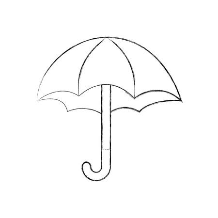 schattig paraplu geïsoleerd pictogram vector illustratieontwerp Stock Illustratie