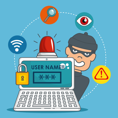 internet security concept vector illustration graphic design