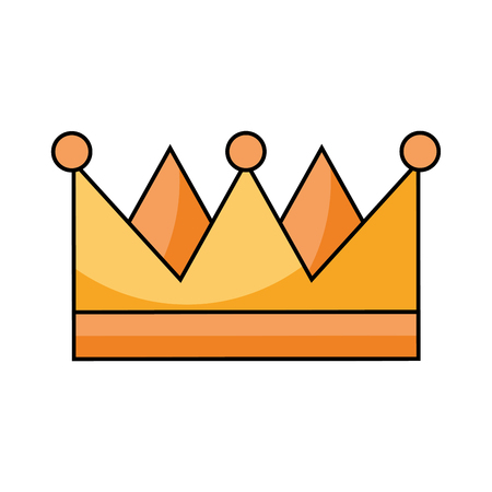 king crown isolated icon vector illustration design Imagens - 83677507