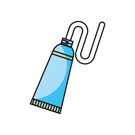 dental toothpaste isolated icon vector illustration design Illustration