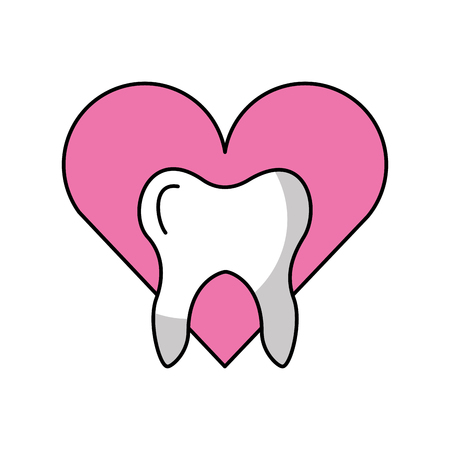 heart with Human tooth isolated icon vector illustration design Stock fotó - 83677544