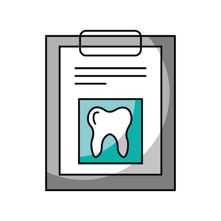 checklist: clipboard with Human tooth isolated icon vector illustration design Illustration