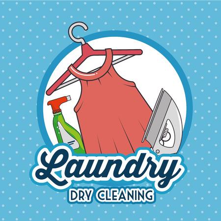 dirty clothes: laundry logo emblem badge vector illustration graphic design