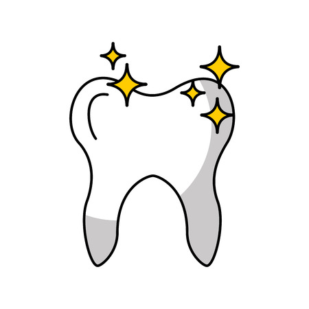 Human tooth with stars vector illustration design 向量圖像