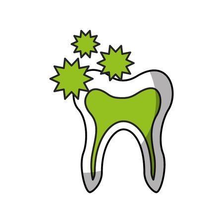 Human tooth with bacterium vector illustration design Illusztráció