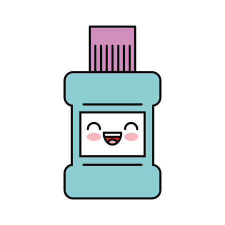 mouthwash bottle kawaii character vector illustration design
