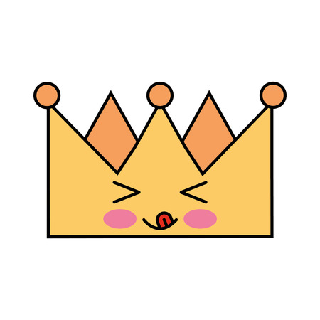 king crown kawaii character vector illustration design Иллюстрация