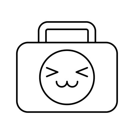 medical kit kawaii character vector illustration design Ilustracja