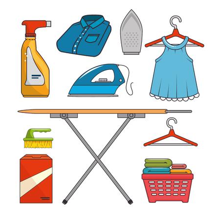 laundry icon set vector illustration graphic design Illustration