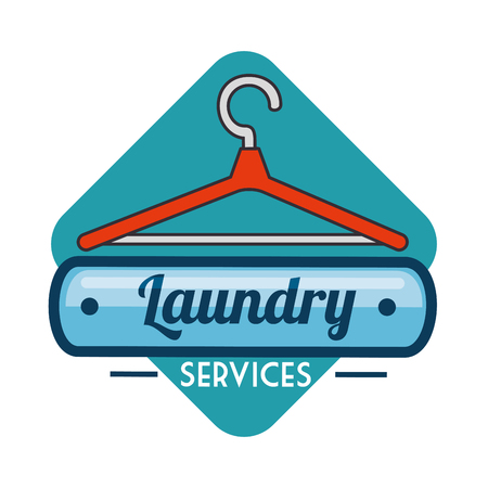 laundry logo emblem badge vector illustration graphic design Zdjęcie Seryjne - 83677681