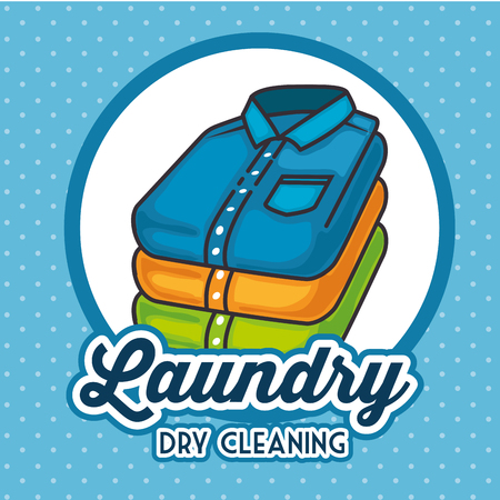 laundry logo emblem badge vector illustration graphic design Zdjęcie Seryjne - 83677683