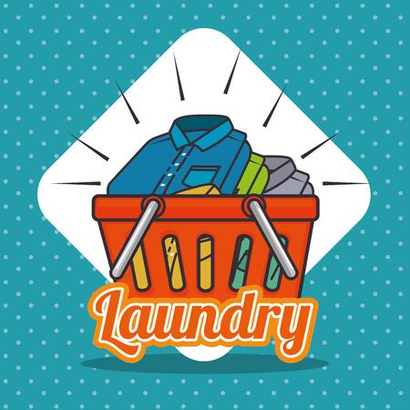 laundry logo emblem badge vector illustration graphic design