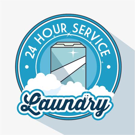 dirty room: laundry logo emblem badge vector illustration graphic design