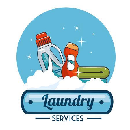 laundry logo emblem badge vector illustration graphic design Stok Fotoğraf - 83677690