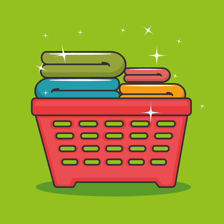 hangers: laundry basket icon vector illustration graphic design