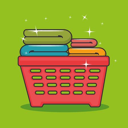 laundry basket icon vector illustration graphic design
