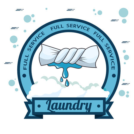 laundry logo emblem badge vector illustration graphic design