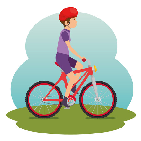 People riding bicycle illustration graphic design